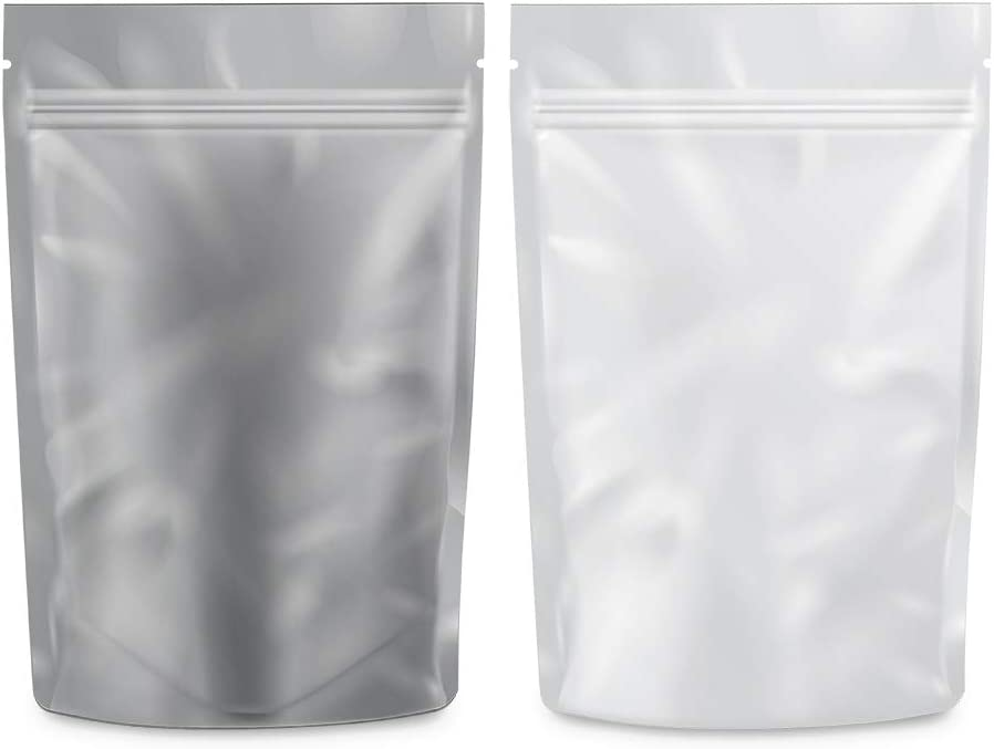 "Clear White Resealable Airtight 1 Gram Capacity 3/""x4.5/"" Barrier Bags 1000"