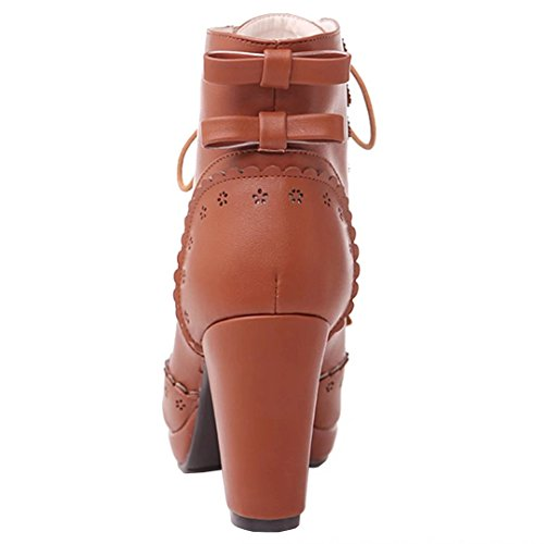 AIYOUMEI Women's Classic Boot Brown exnQ6