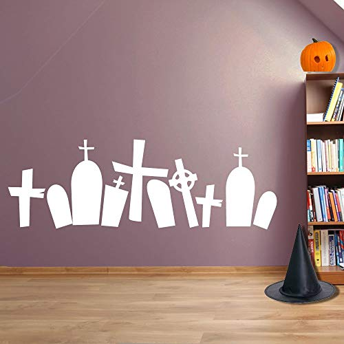 Yilooom Halloween Spooky Halloween Graveyard Grave Stones Wall Decorations Window Stickers Wall Decor Wall Stickers Wall Art Wall Decals Stickers
