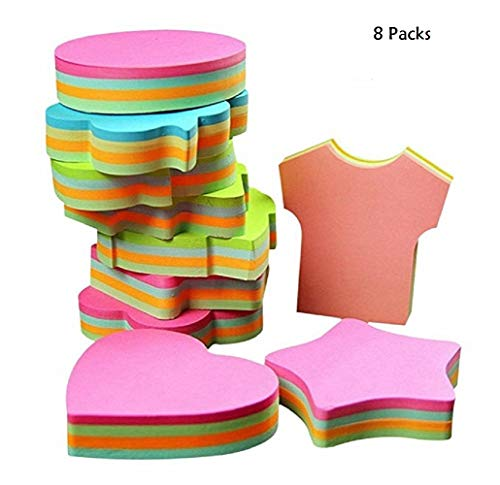 8 Packs Post Note Creative Sticky Note Self-Stick Note (Post Flower Shaped)