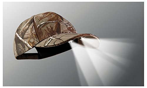 a418f1af942 Panther Vision POWERCAP CAMO LED Hat 25 10 Ultra-Bright Hands Free Lighted  Battery