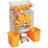 Superland Orange Juice Machine Commercial 120W Orange Juicer Auto Feed 20-22 Oranges per Minute Commercial Juicer Machine Stainless Steel Case (20-22 Oranges per Minute)