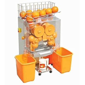 HPcutter Exprimidor Licuadora de Naranjas Exprimidor de Zumos, Licuadora Alimentación Automática Acero Inoxidable 4-7 Vasos/Min. 20-22 Naranjas/Min.