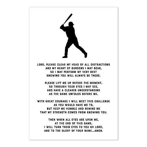 Baseball Prayer Christian Athlete Poster -