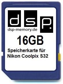 Dsp Memory 16gb Speicherkarte Für Nikon Coolpix S32 Computer Zubehör
