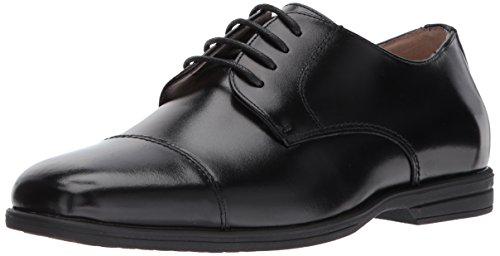 Florsheim Kids Boys' Reveal Cap Toe Oxford Jr, Black 5.5 M US Big - Boys Kids Shoes Dress