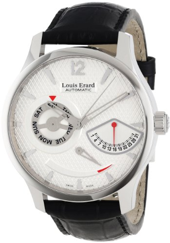 Louis Erard Men's 87221AA01.BDC51 1931 Automatic Black Leather Power Reserve Date XL Watch