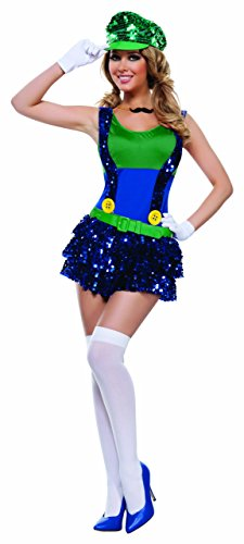 Starline Women's Block Bustin Looisa 5 Piece Costume Set, Green/Blue, Large ()