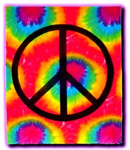 Tie Dye Tapestry ~ Peace Sign ~ Approx