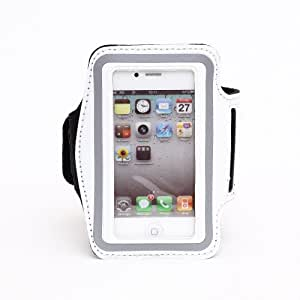 Slim Trendy Sport Armband Cover Case For Apple iPhone 4 4S(White)