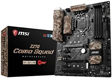 MSI Z270 Camo Squad Arsenal - Placa Base (Chipset Intel Z270, Mystic Light Sync, DDR4 Boost, Steel Armor, Intel LAN, Audio Boost, VR Ready, Military Class V)