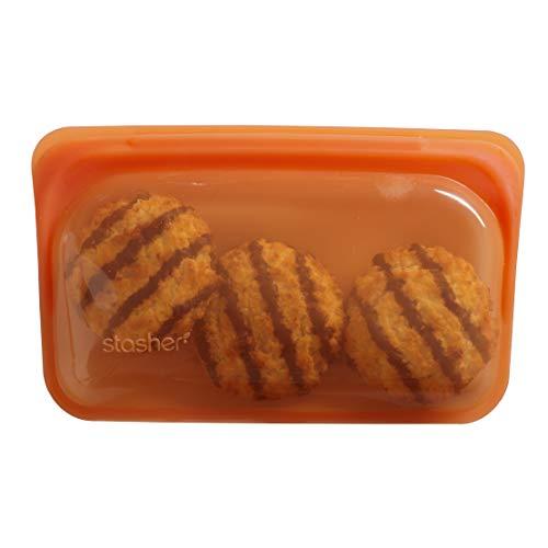 Stasher Reusable Silicone Food Bag, Snack Bag, Storage Bag, Citrus