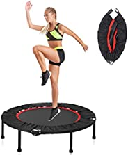 """40"""" Foldable Mini Trampoline, 150kg Capacity Fitness Rebounder Exercise Trampoline High Elasticity With E"""