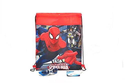 Spider-Man Lightweight Drawstring Backpack and Super Hero Sunglasses Set (Man Spider Drawstring)