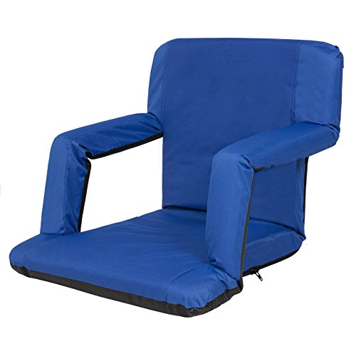 Comfortable Portable Cushion Reclining Seat Or Beach Chair Useful While Enjoy Your Camping, Watching Those Long Games (Navy - Charlotte Near Malls