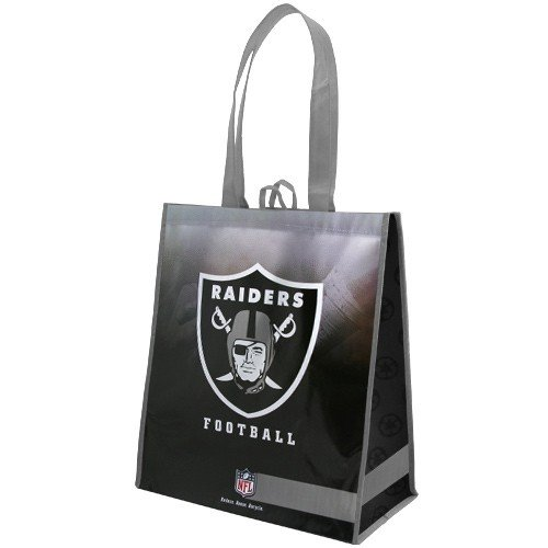 Oakland Raiders Silver-Black Fade Reusable Tote Bag