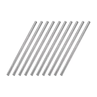 4mm x 250mm 304 Stainless Steel Solid Round Rod for DIY Craft 2pcs