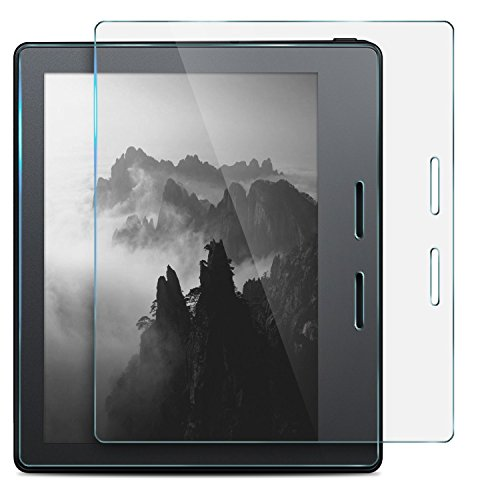 huapin All-New Kindle Oasis E-Reader - 7'' High Tempered-Glass Screen Protector,Scratch-Resistant No-Bubble Easy Installation for All-New Kindle Oasis E-Reader 7 Inch 2017 Release by huapin