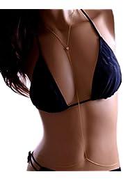 JY Jewelry Simple Gold Tone Belly Chain Sexy Bikini Body chain Body Jewelry
