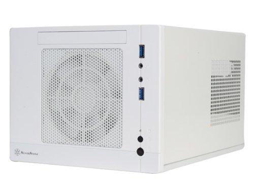 Silverstone Tek Plastic/SECC Mini-ITX Computer Case with 2x USB 3.0 Front Ports SFF Cases, White SG05W-LITE