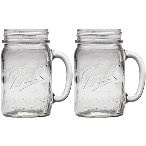Ball Pint Regular Mouth Drinking Mason Mug 16-Ounces (2-Pack)