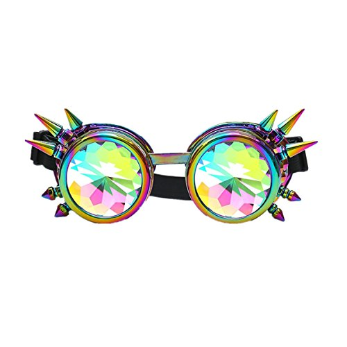 Bluestercool Lunettes de soleil, Colorées Lunettes de Kaléidoscope pour Festival et Fête Multicolore