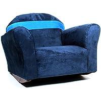 KEET Bubble Rocking Microsuede Kids Chair, Navy/Blue
