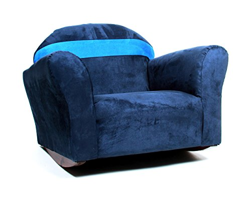 Bubble Chair Club (KEET Bubble Rocking Microsuede Kid's Chair, Navy/Blue)