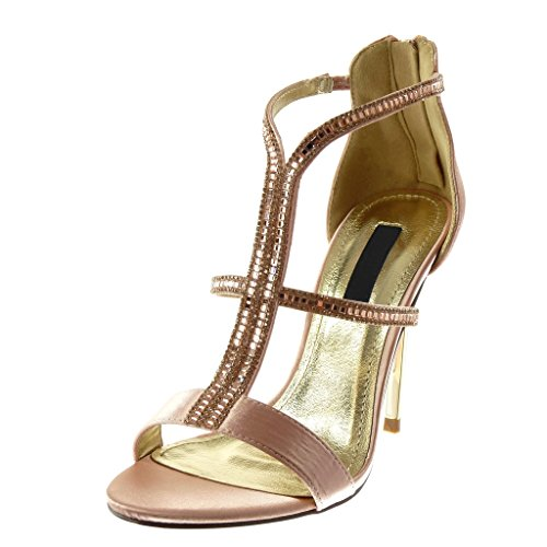 Multi Angkorly Escarpin Sandale Cm 5 Femme Montante Haut Aiguille Diamant 10 Rose Mode Stiletto Talon Strass bride Chaussure qgqfBwSx1