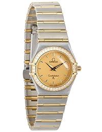 Omega Women's 1277.10.00 Constellation Quartz Small Two-Tone Diamond Gold Dial Watch
