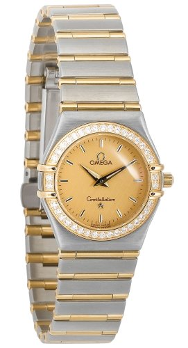 Omega Women's 1277.10.00 Constellation Quartz Small Two-Tone Diamond Watch