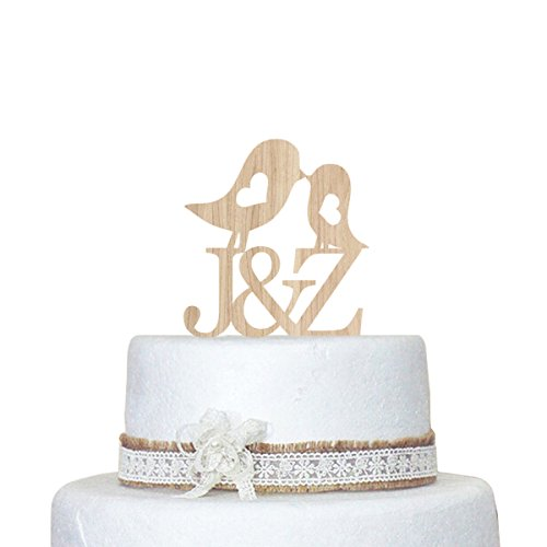 Wedding-Birds-Cake-Topper-Personalized-Custom-Last-Name-Wood-Cake-Dcor