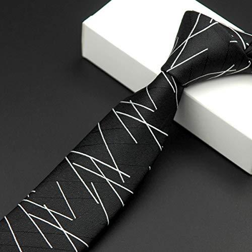 Txrh Corbatas Moda Nano Impermeable de los Hombres Negros Flacos ...