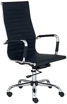 High Back Executive Leather Ergonomic Office Desk Computer Chair O10 by Bestoffice