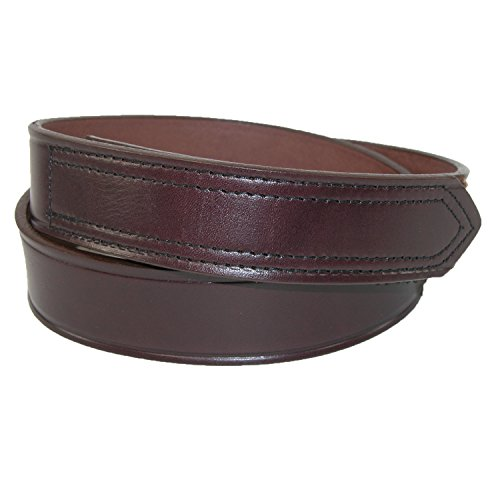 Boston Genuine Belt (Boston Leather Men's Big & Tall Leather 35mm Hook and Loop No Scratch Work)