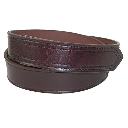 Boston Leather Men's Big & Tall Leather 35mm Hook and Loop No Scratch Work Belt (Boston Genuine Belt)