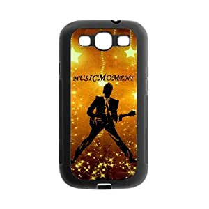 Personalized Fantastic Skin Durable Rubber Material Samsung Galaxy s3 I9300 Case - Rock Music Note