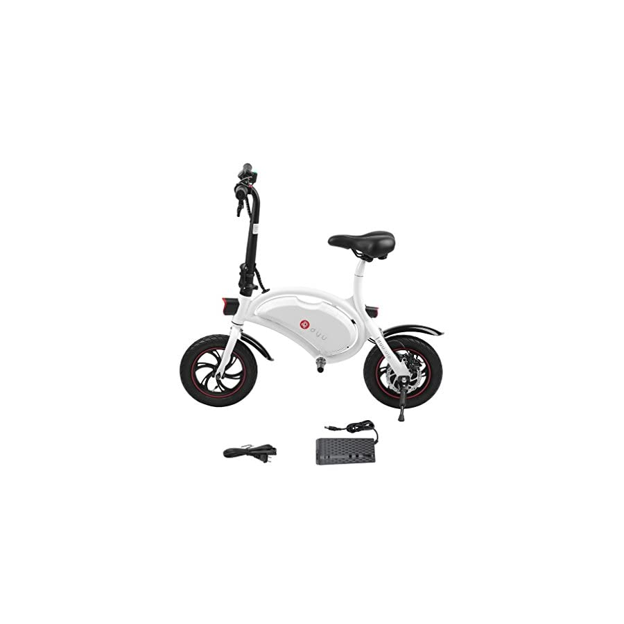 OUTAD Folding 250W E Bike Built in 36V 6AH Lithium Ion Battery and 12 inch Wheels | Lightweight and Aluminum Adult Electric Bicycle | Reach 18.6 mph, 264 lbs Max Load