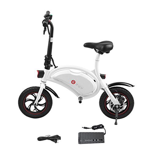 OUTAD Folding 250W E-Bike Built-in 36V 6AH Lithium-Ion Battery and 12 inch Wheels | Lightweight and Aluminum Adult Electric Bicycle | Reach 18.6 mph, 264 lbs Max Load