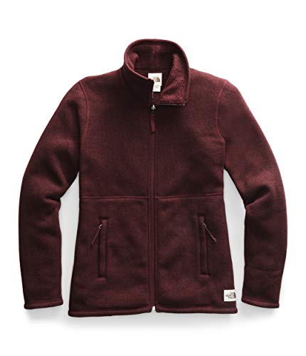 The North Face Women's Crescent Full-Zip, Deep Garnet Red Heather, S