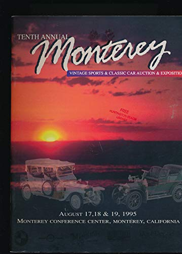 10th Annual Monterey Vintage Sports and Classic Car Auction Catalog (1995 Pamphlet)