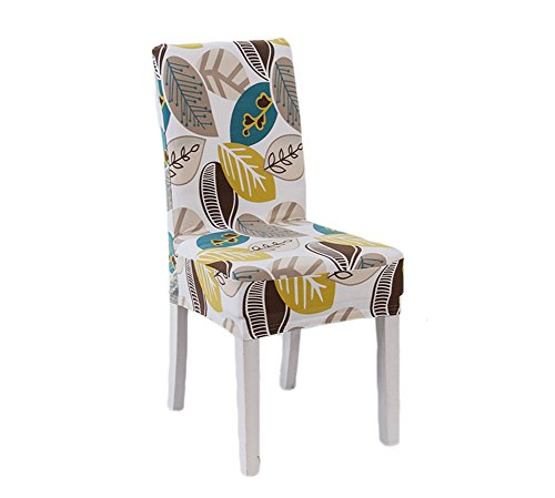 Deisy Dee Colorful Polyester Stretchable Removable Washable Dining Chair Covers Seats Slipcover for Wedding Party Hotel C036 (Wish Tree)