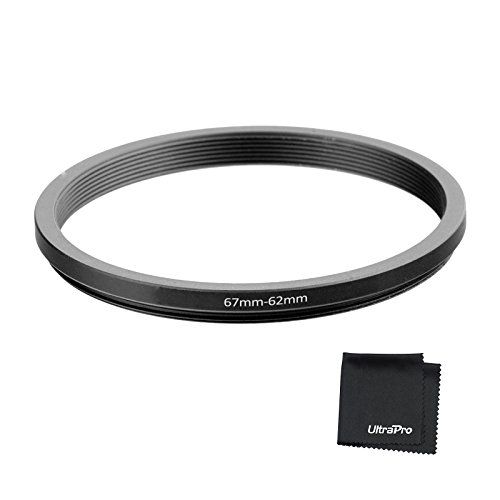 UltraPro Step-Down Adapter Ring 67mm Lens to 62mm Filter Size -