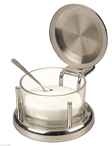 ALTON BROWN Good Eats Stainless & Glass SALT Keeper BOX DISH SERVER CELLAR by Other Kitchen ()