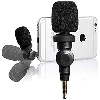 ZXY Micr/ófono omnidireccional de micr/ófono de Solapa lavalier de Grado Profesional con para Grabar Youtube//Entrevista//Videoconferencia//Podcast//Dictado de Voz//ASMR