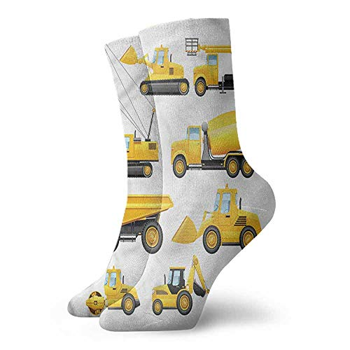 - Super elastic socks Boys,Construction Vehicles 3.4
