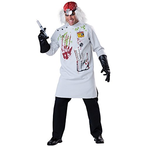 Costume Scientist Crazy (Mad Scientist Adult Costume -)