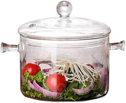 SMXGF Hot Heat Resistant Borosilicatglas Suppentopf Stockpot Transparent Soup Cooker Wasser Kochen Instant-Nudeln Porridge Kocher Stock