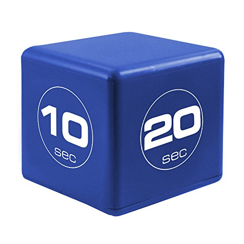 The Miracle TimeCube Timer, 10, 20, 30, and 60 Seconds, for High Intensity Workouts, HIIT Training, Aerobic Improvement, Navy -