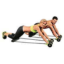 New Sport Core Double AB Roller Exercise Equipment,Professional Ab Wheel Roller Supports,Abdominal Workout Machine